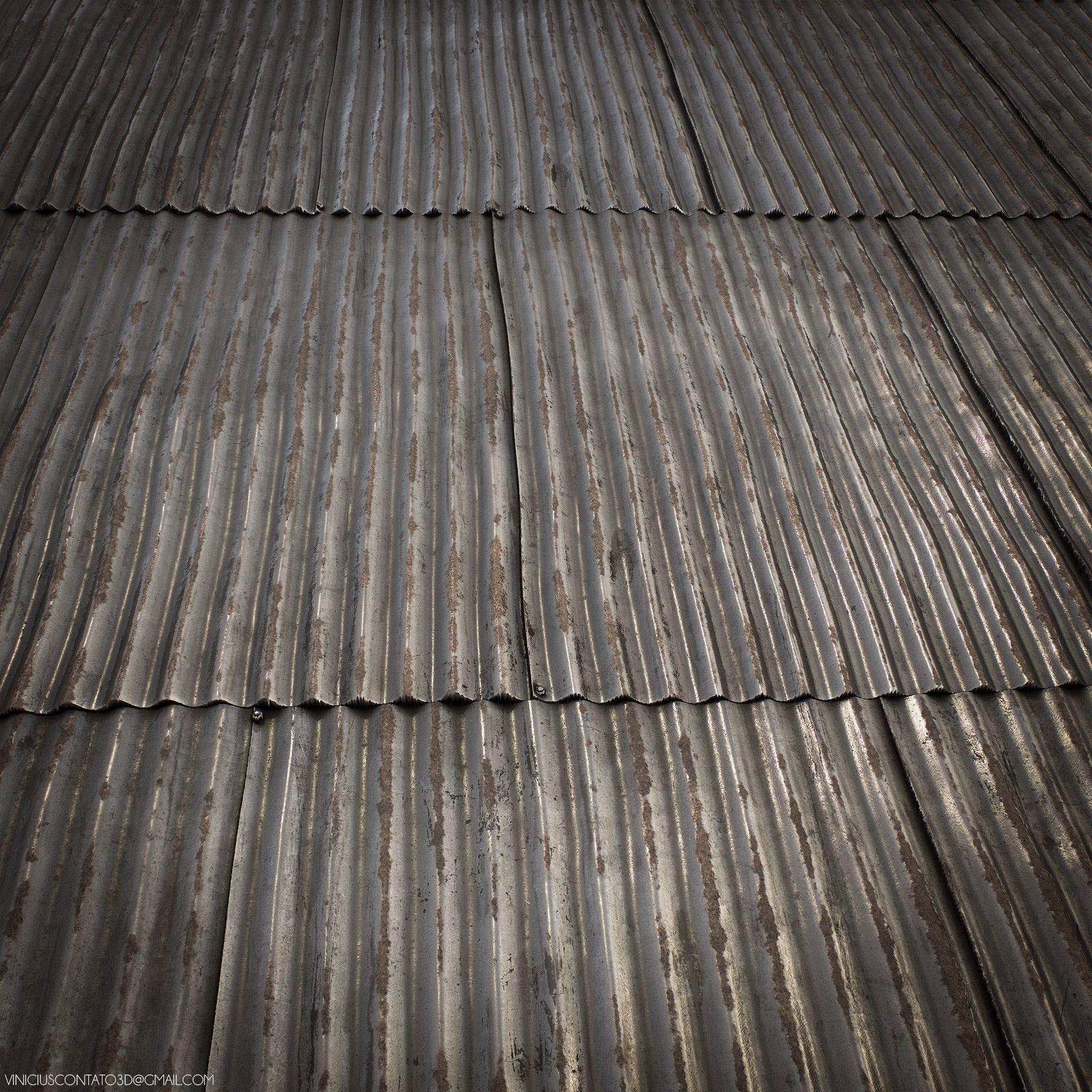 Artstation Substance Corrugated Metal Roof Vinicius Ribeiro Metal Roof Corrugated Metal Roof Corrugated Metal