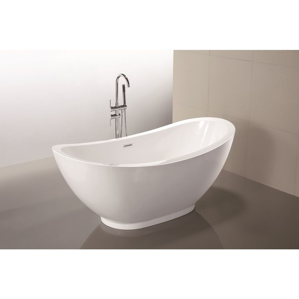 48 inch freestanding tub. Vanity Art 69 Inch Freestanding Acrylic Soaking Bathtub  White Size 66 To 71 Inches