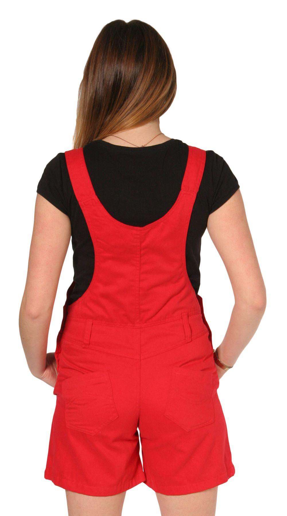 Sassy red dungaree shorts - fun festival wear! #dungarees #shortalls #red