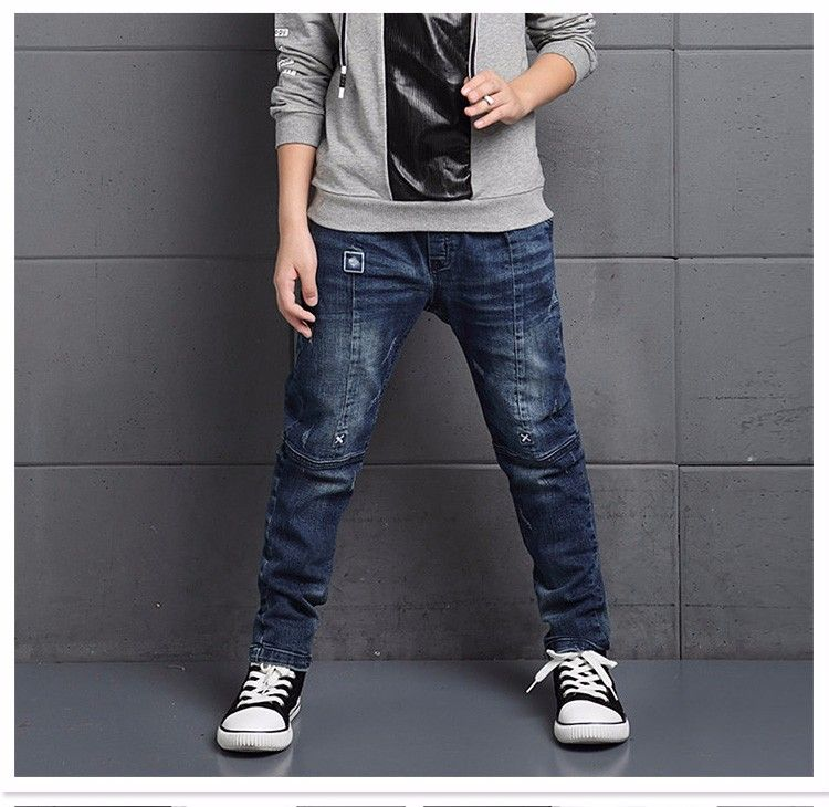 9fccdcd48 F16544# 2017 New Arrival Fashion Children Euramerican Vintage Slim Broken  Patch Wrinkled Boys Jeans Kids Pants Wholesale - Buy 2017cool Long Blue  Jeans For ...