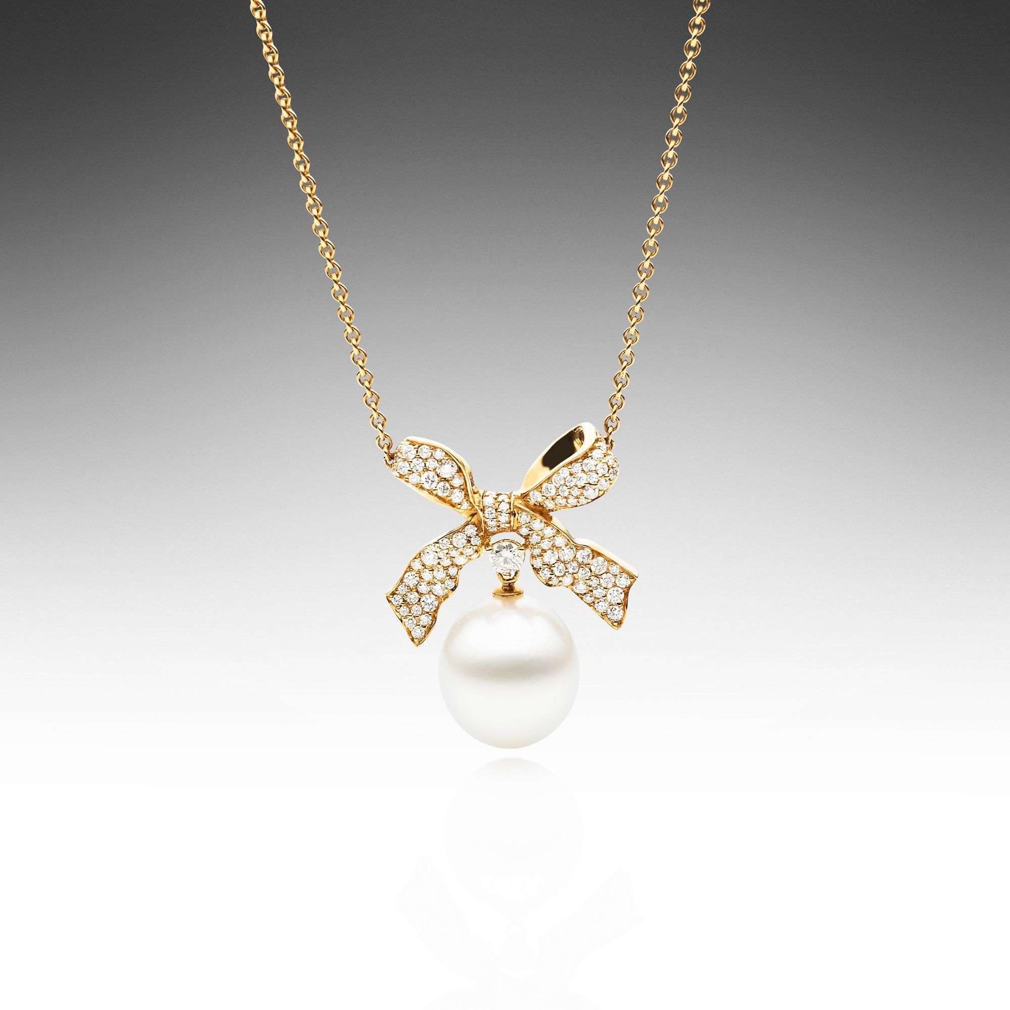 Ribbon Bow Necklace - Paspaley Pearls - The Most Beautiful Pearls ...
