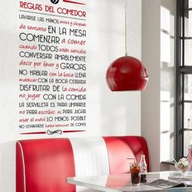 Vinilos Decorativos Reglas del Comedor #decoracion #decoración ...
