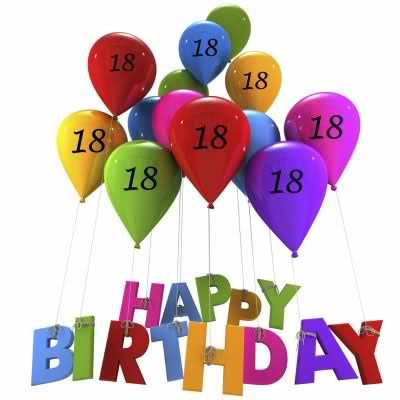 Happy 18th Birthday Images B Day Cards Balloons