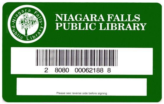 Niagara Falls Ontario Public Library Card  Library Cards