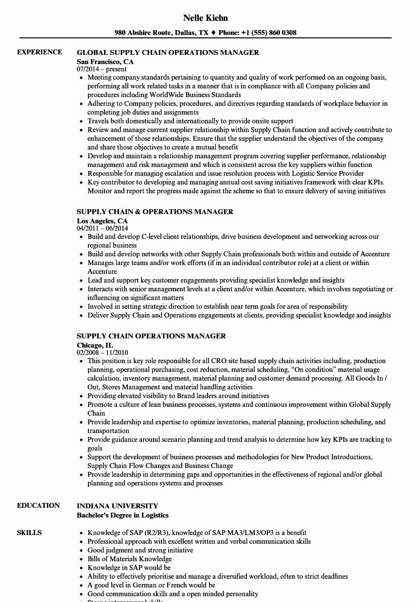 23 supply chain resume examples in 2020 with images