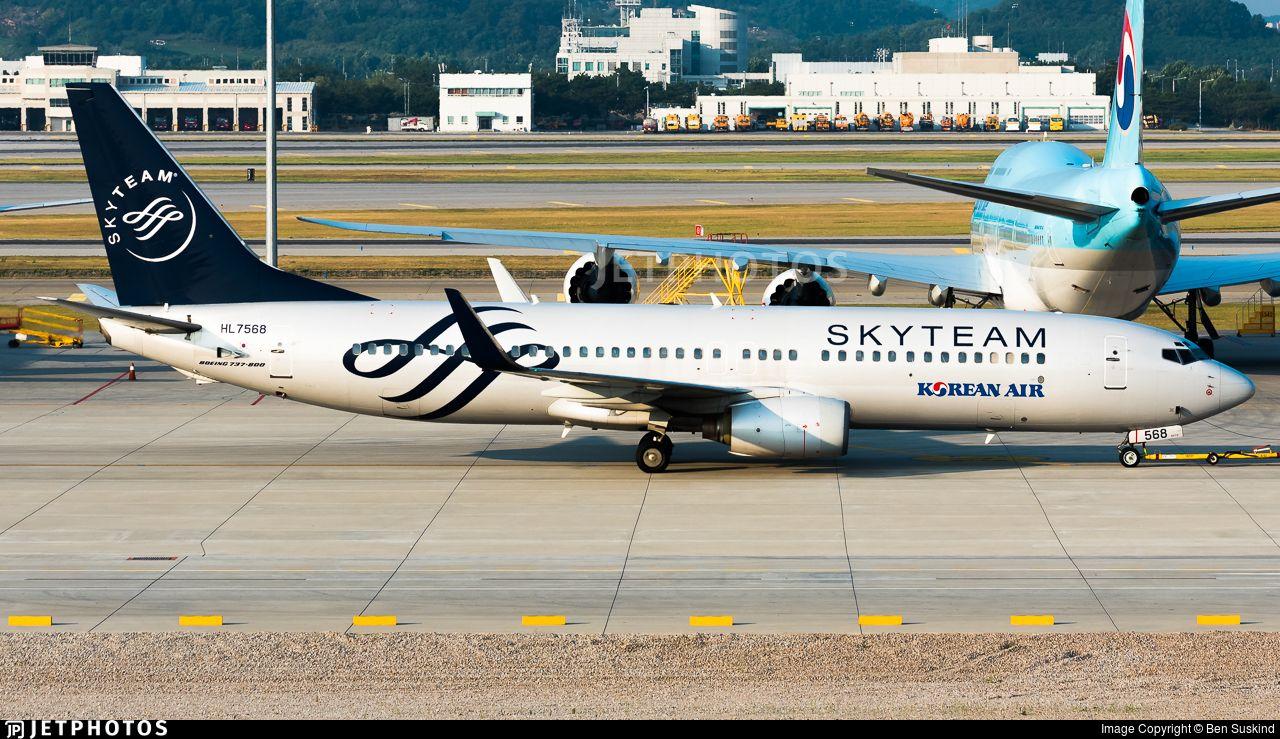 Airline Korean Air Registration HL7568 Aircraft Variant