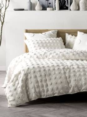 Haze White Quilt Cover Set White Quilt Cover Textured Bedding Vintage Bed