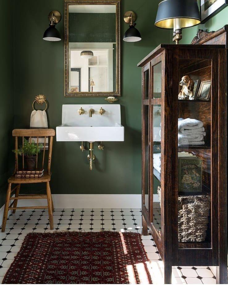 Forest Green Bathroom Vintage Bathrooms Green Bathroom Interior