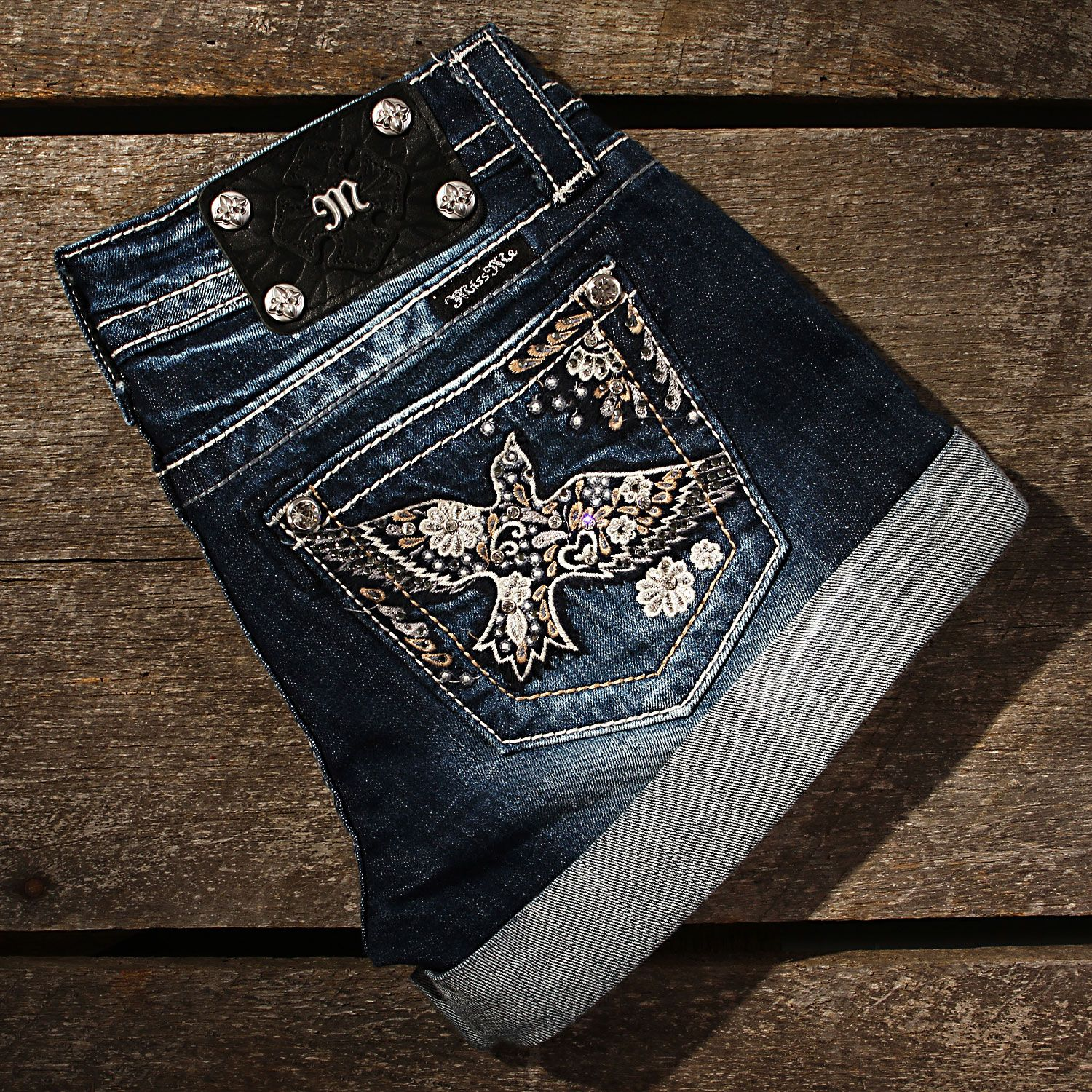 Miss Me 60's Bird Shorts|All Womens Jeans LOVE!!