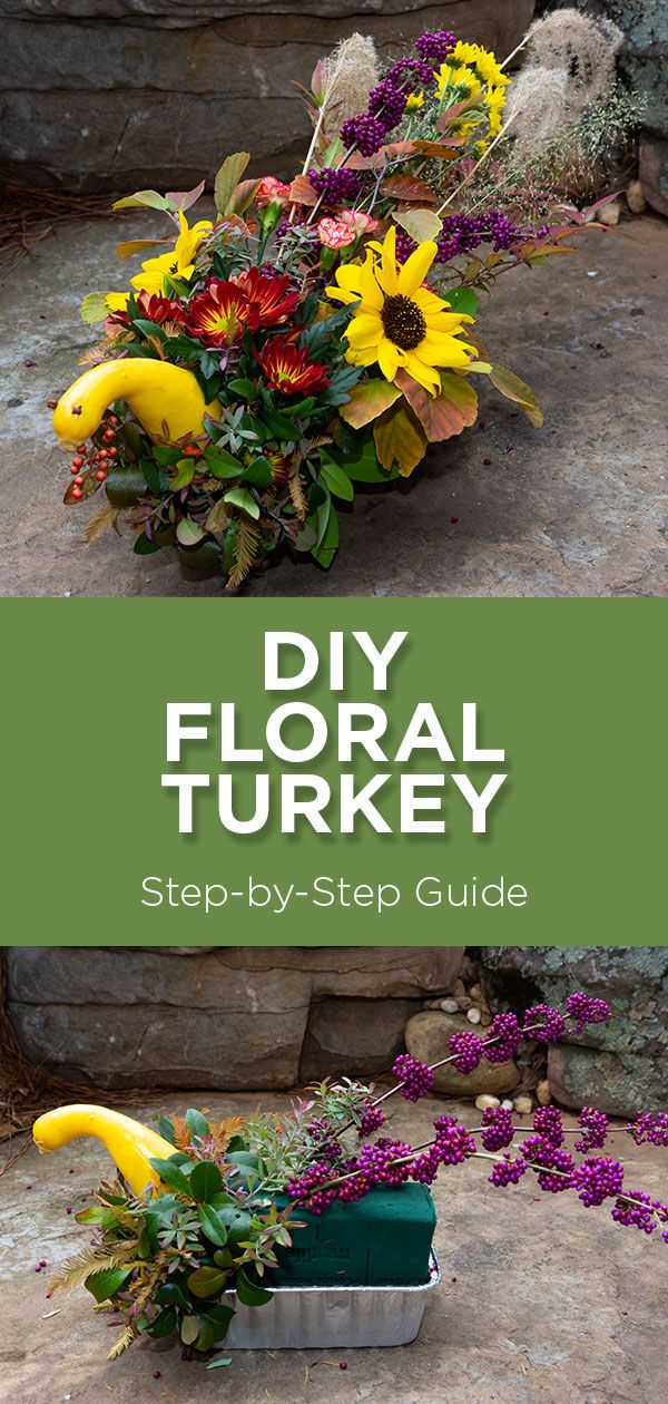 DIY Floral Turkey for Thanksgiving Horticulture therapy