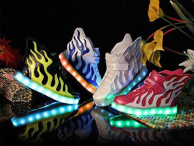 New Kids Led Wing Shoes Light Up shoes for Girls Boys  Luminous Kids Casual Shoe