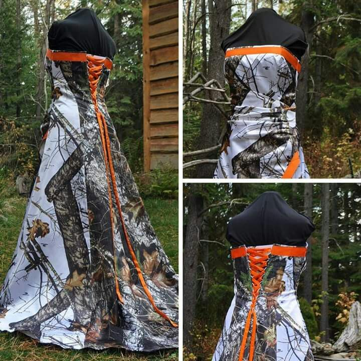 Country Camo Wedding Ideas: White Camo Wedding Dress