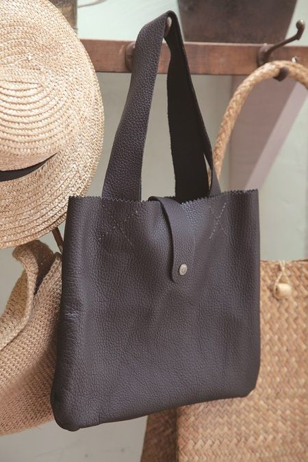 Easy Handmade Leather Tote (Free Sewing Pattern) | Sewing Patterns ...