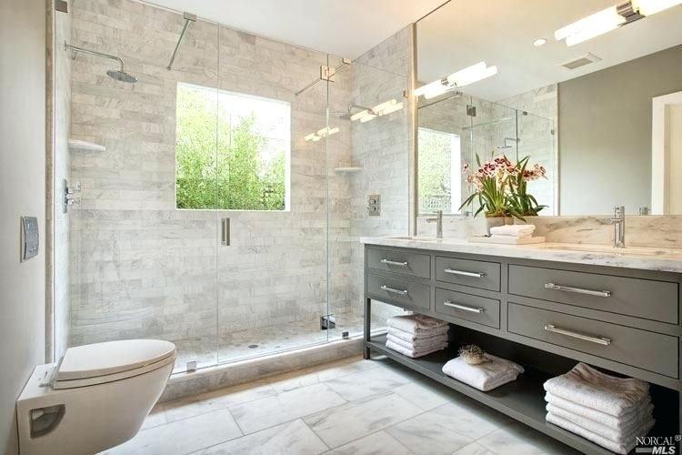Contemporary Master Bathroom Contemporary Master Bathroom With Walk In Shower Mirro Contemporary Master Bathroom Master Bathroom Shower Bathroom Vanity Designs