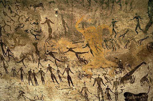 Modern Petroglyph Art On Sandstone