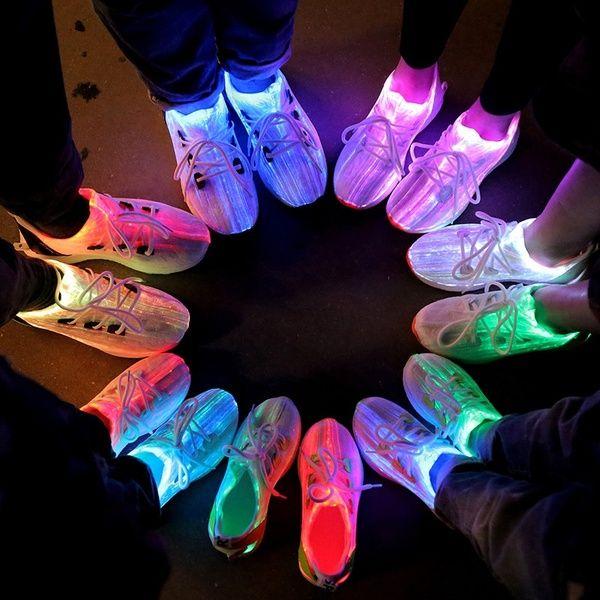 fiber optic led sneakers