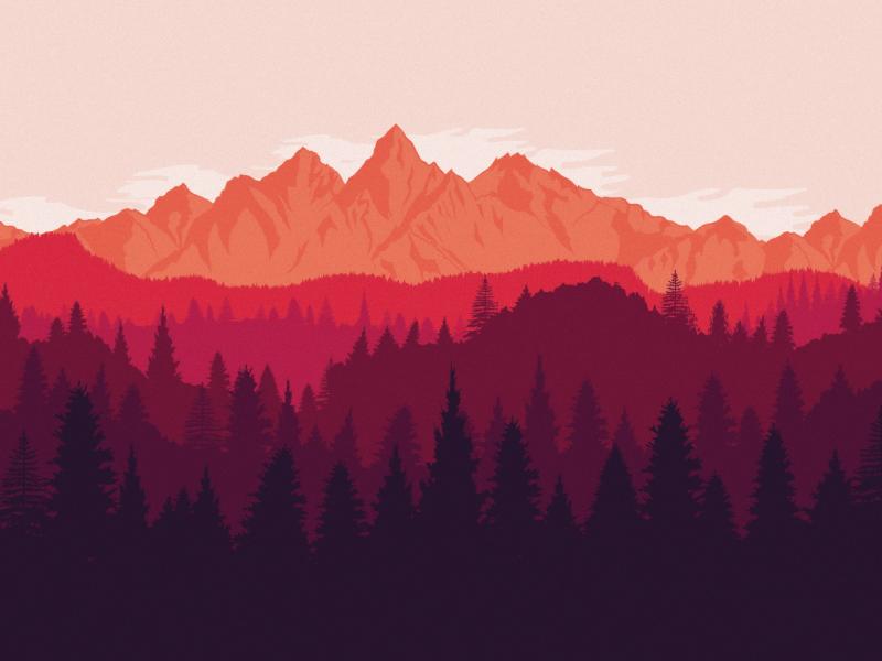 Mountain Landscape Mountain Landscape Art Design Graphic Design Blog