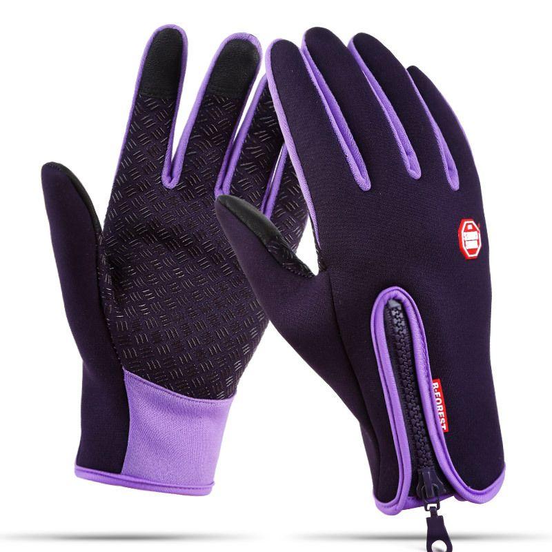 Mens Winter Thermal Windproof Waterproof Fleece Lined Warm Touch Screen Gloves