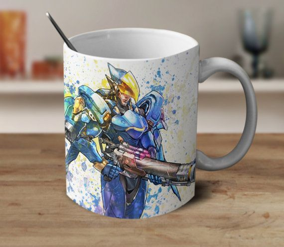 Pharah Mug Coffee Mug Watercolor Mug Color Changing Mug 11oz