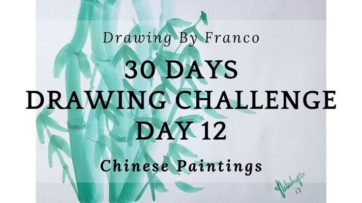 CH59: 30 Tage Zeichenherausforderung 12 - (Make Watercolor Chinese Painting) - #challenge #chinese #drawing #painting #watercolor