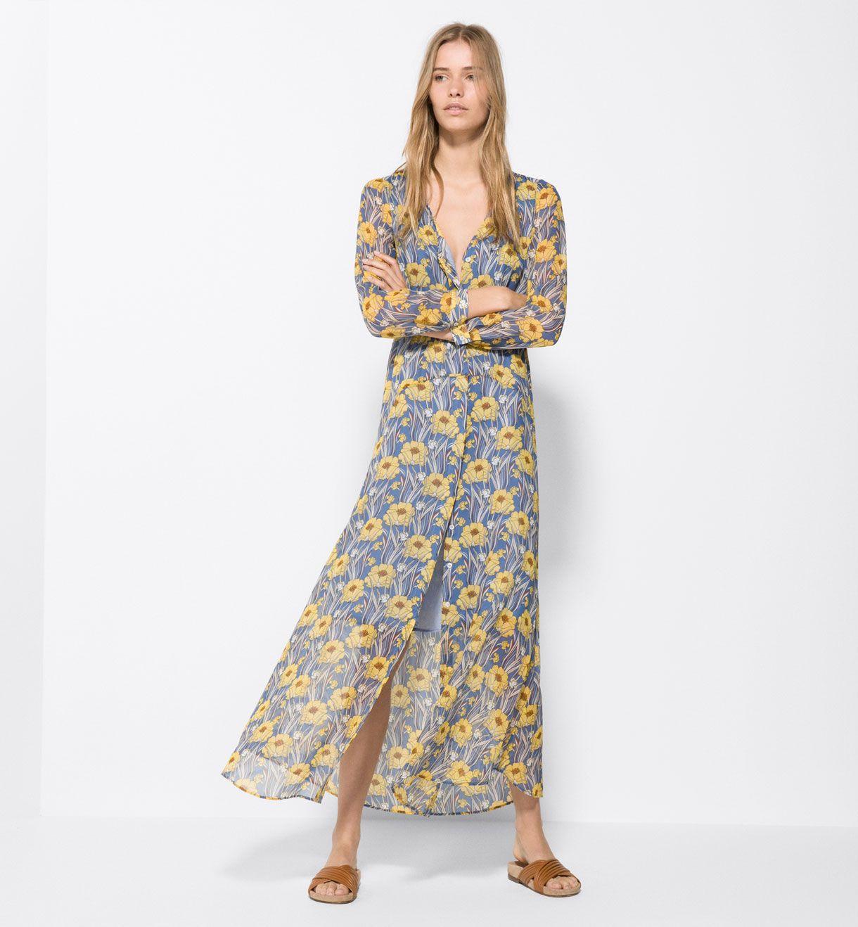Vestido largo flores online