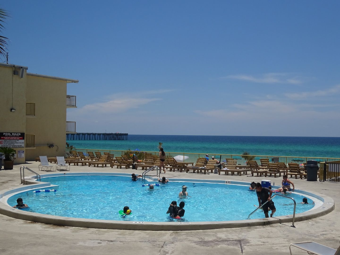Beat The Heat In The Chateau S Pool Which Overlooks The Gulf Of Mexico Panama City Beach Fl Panama City Beach Hotels Panama City Panama Panama City Beach