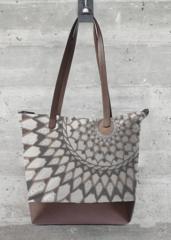 Statement Bag - Fucsia triangles top by VIDA VIDA dEtARGE