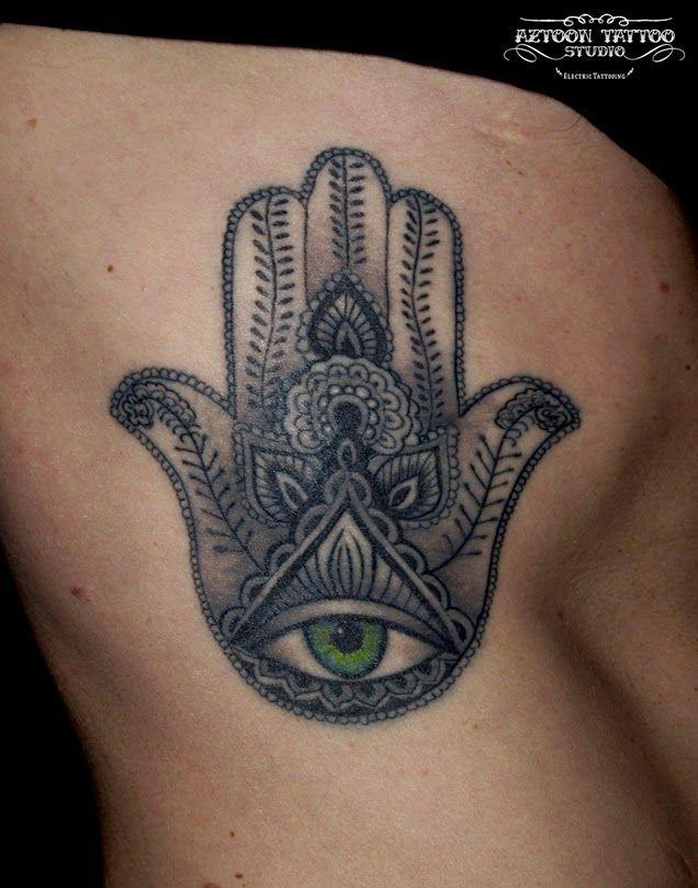 AZTOON TATTOO STUDIO: Hamsa Tattoo ,,,, Hand of Fatima ...