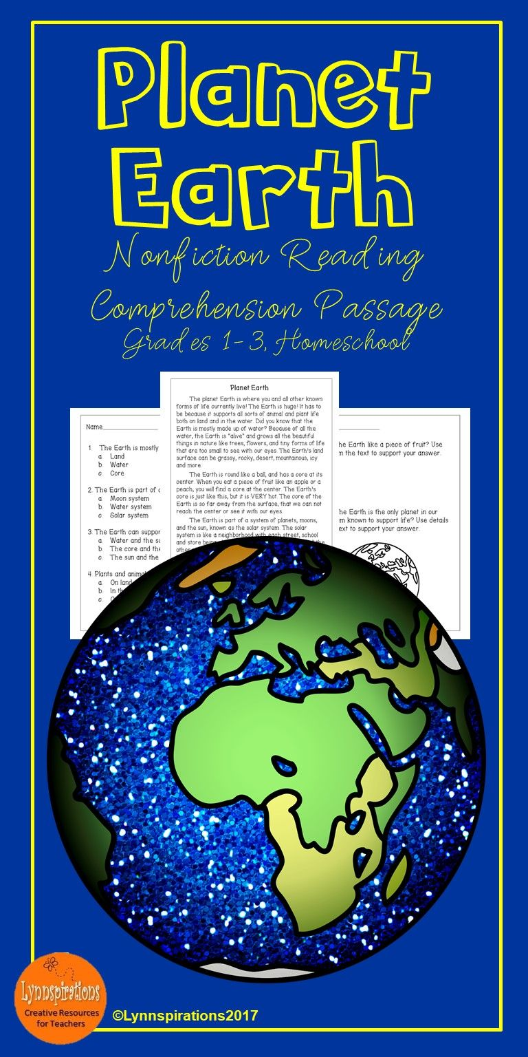 Planet Earth Reading Comprehension Activity Reading Comprehension Activities Reading Comprehension Comprehension Activities [ 1536 x 768 Pixel ]