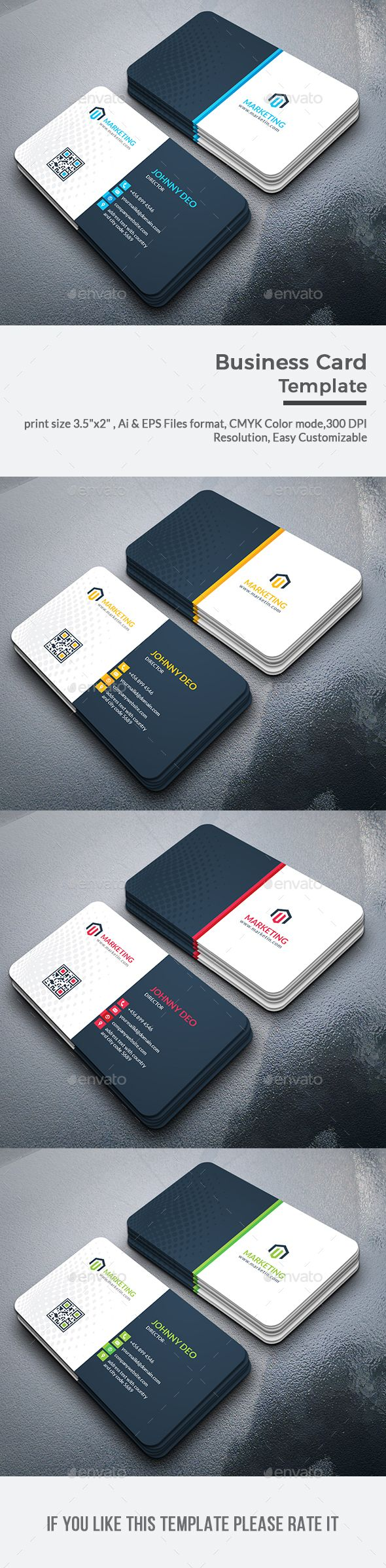 Business Card | Business cards, Card printing and Print templates