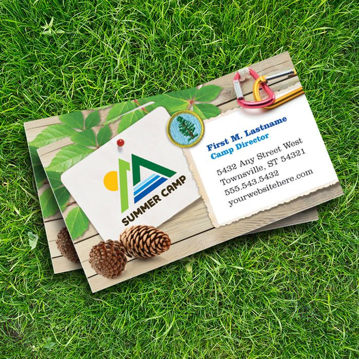 Summer camp business card design by StockLayouts.com | Business ...