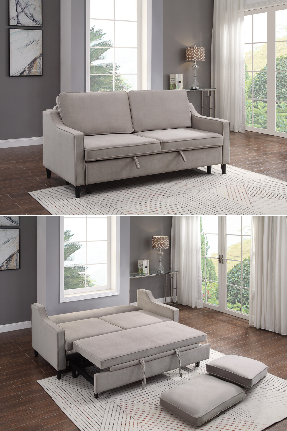 Dickinson Sofa With Pull Out Bed In 2020 Curtains Living Room