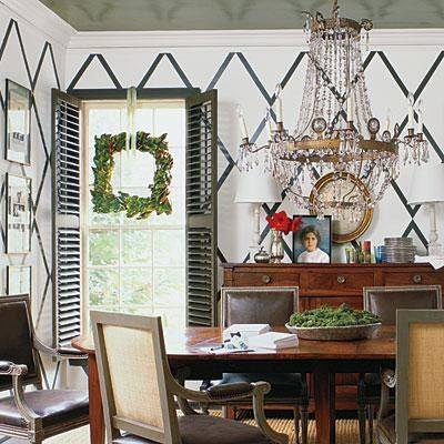 Square Things Up   The traditional magnolia wreath is given a modern makeover with a square shape. Here, the straight lines of the wreath echo the lines of the space.   SouthernLiving.com