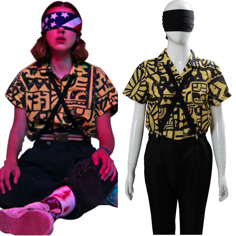 Stranger Things Season 3 Eleven Cosplay Costume Playsuit Vestito Halloween