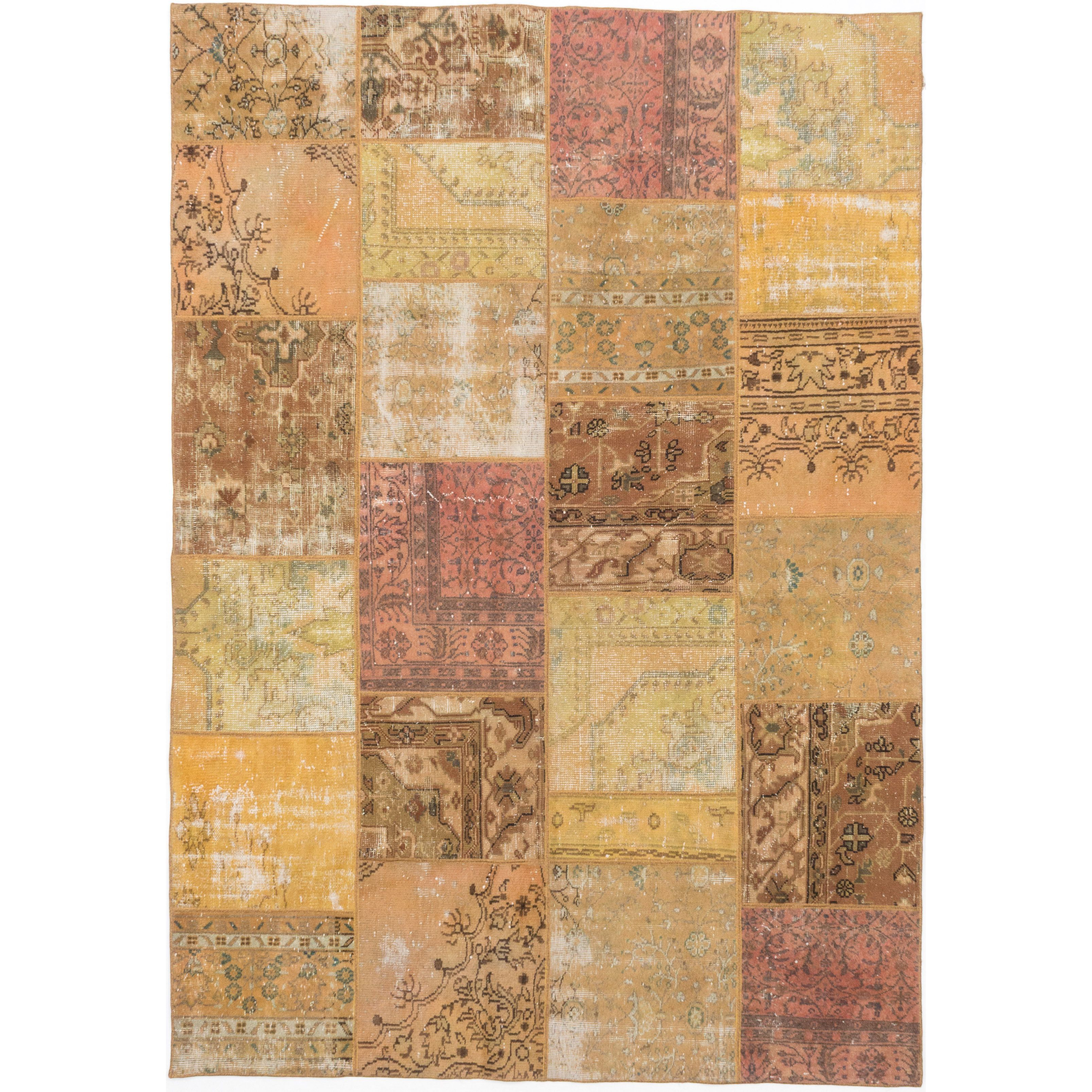 ecarpetgallery Color Transition Patch Brown Wool Rug (6'10 x 9'8) (Brown Light Brown Rug (6' x 9')), Size 6' x 9' (Cotton, Abstract)