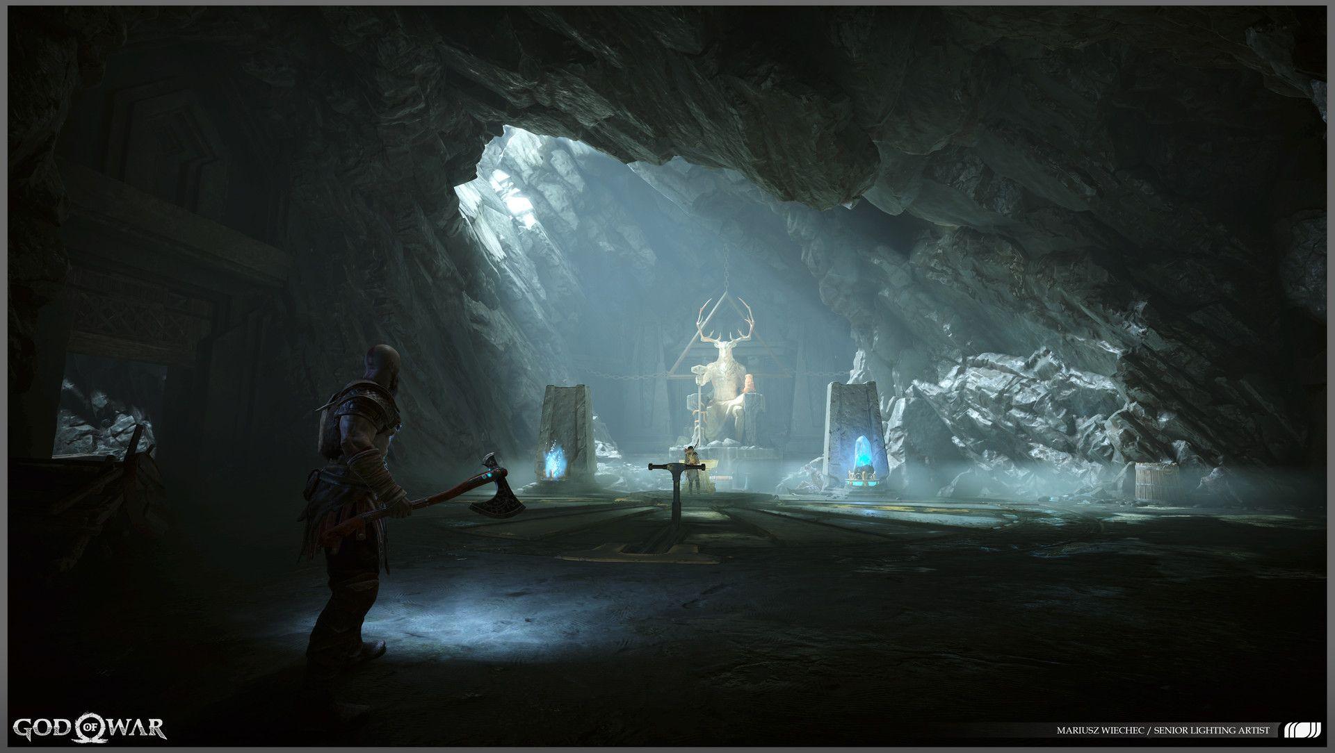 ArtStation God of War game environment lighting 2018