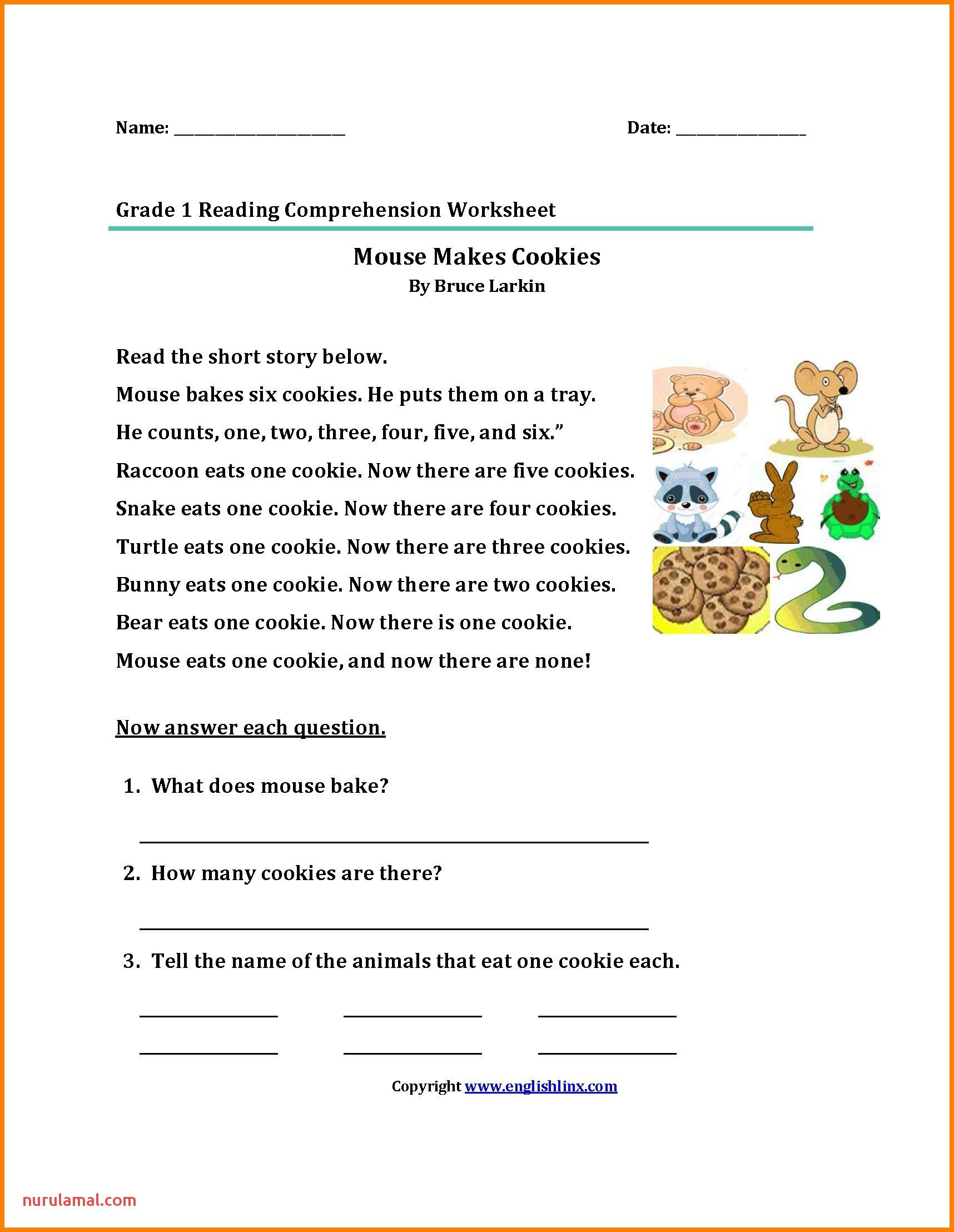 1st Grade Worksheet English   Reading worksheets [ 2216 x 1716 Pixel ]