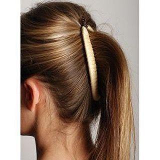 banana clip ponytail length wise
