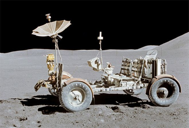 Apollo 15 Commander Dave Scott Photographed The Lunar Rover At The