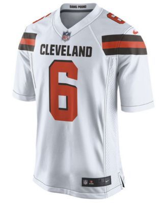 7f2d802da Nike Men s Baker Mayfield Cleveland Browns Game Jersey - White M
