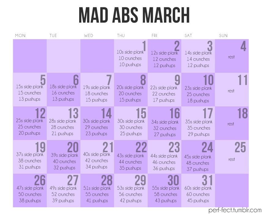 I'm going to attempt this, along with a jog everyday as long as it's nice outside.   # Pinterest++ for iPad #