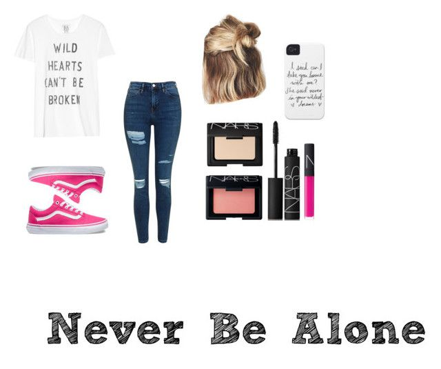 """""""Never Be Alone"""" by ittybittyrsunshine ❤ liked on Polyvore featuring Zoe Karssen, Topshop, Vans and NARS Cosmetics"""