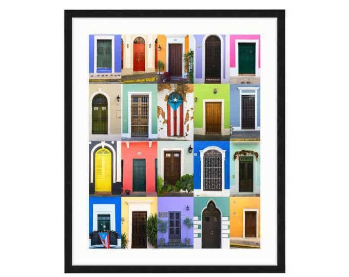 Doors of Old San Juan Framed Print, Puerto Rico, Bright, Colorful ...
