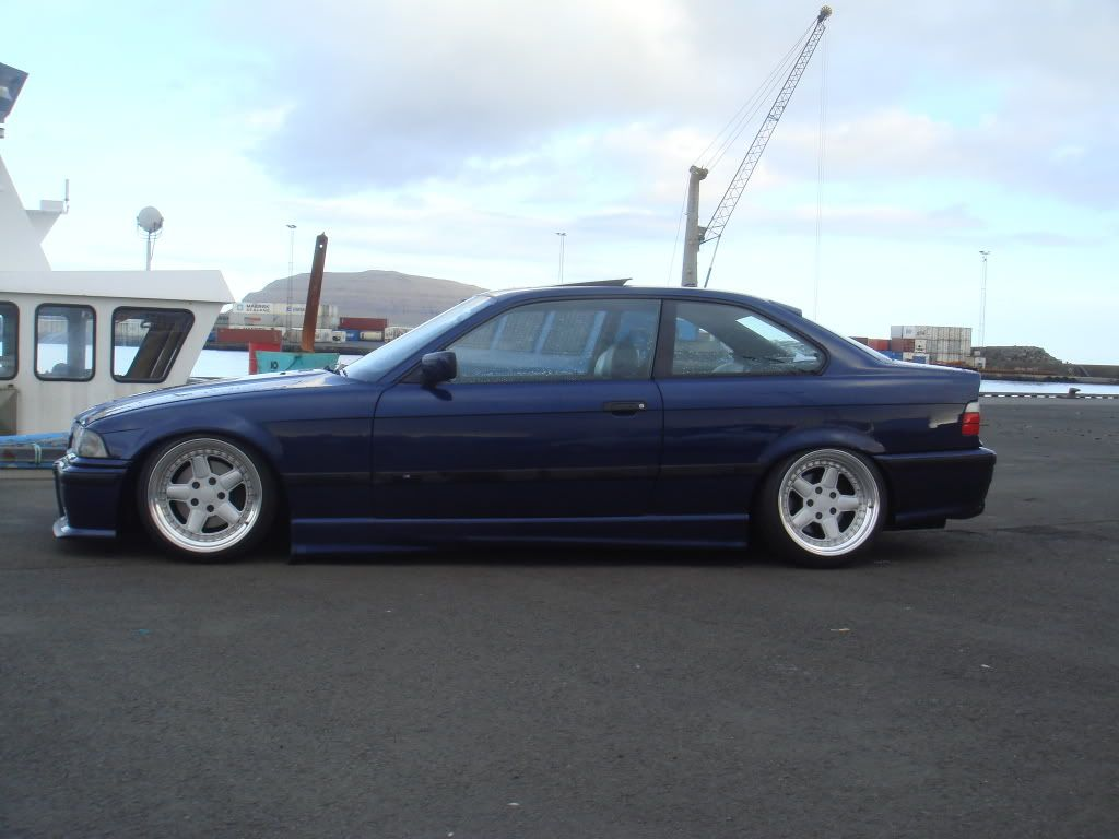 blue bmw e36 coupe on cult classic oz ac schnitzer type 1 wheels [ 1024 x 768 Pixel ]