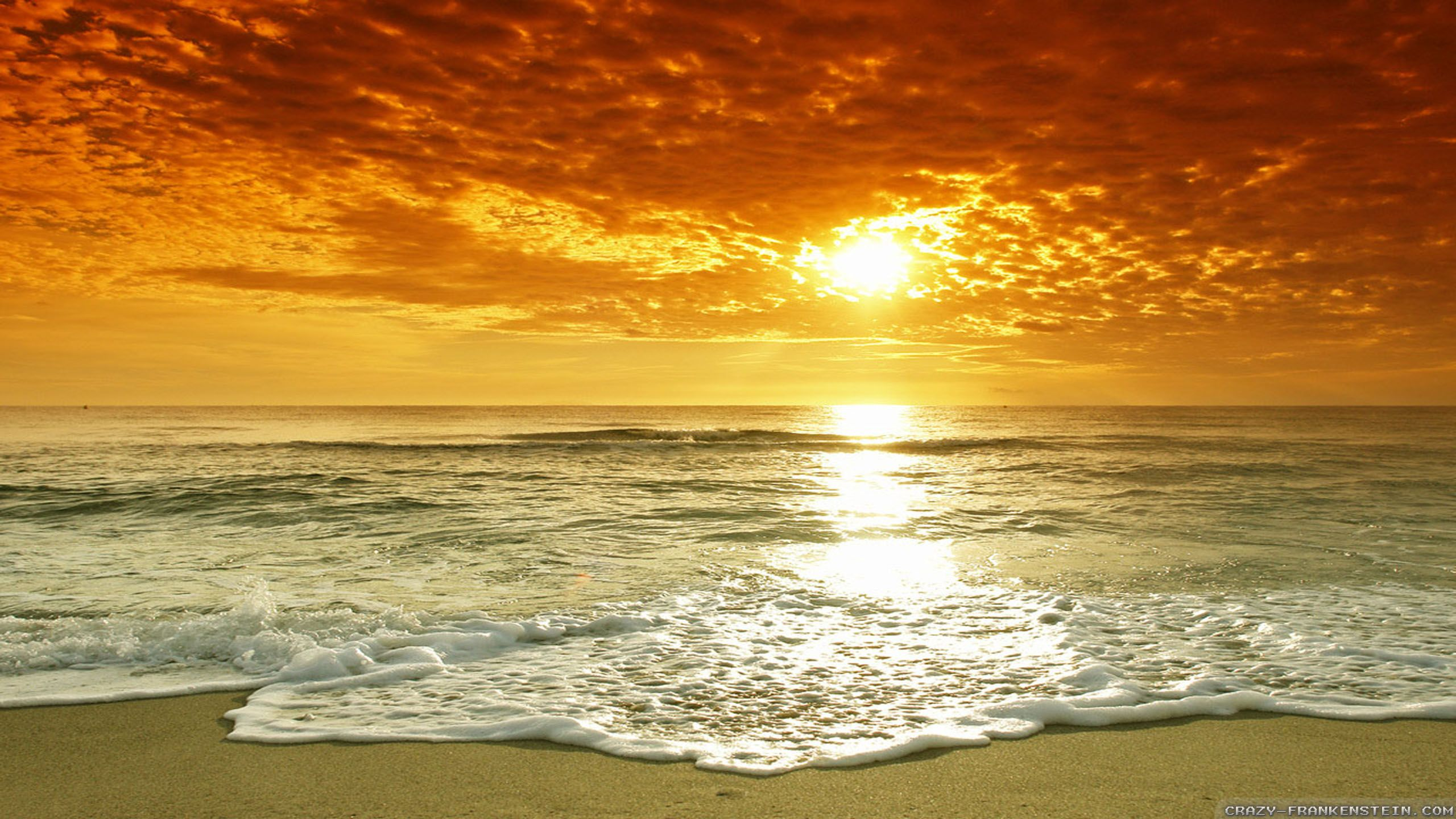Sunset With Sea Wave Tap To See More Breathtaking Beach: Summer Beach Images - Google Search