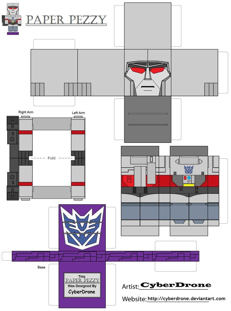Paper pezzy megatron by cyberdrone on deviantart transformers my paper pezzy papercraft of megatron from the transformers generation tv cartoon all of the paper pezzy templates are glue together papercrafts jeuxipadfo Images