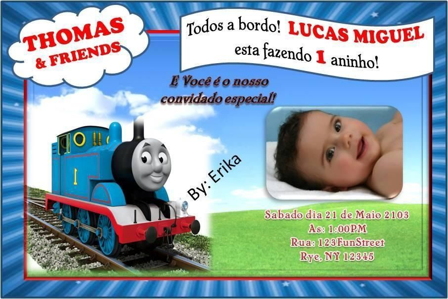Thomas And Friends Birthday Party Invitation Thomas And Friends - Birthday invitation card thomas and friends