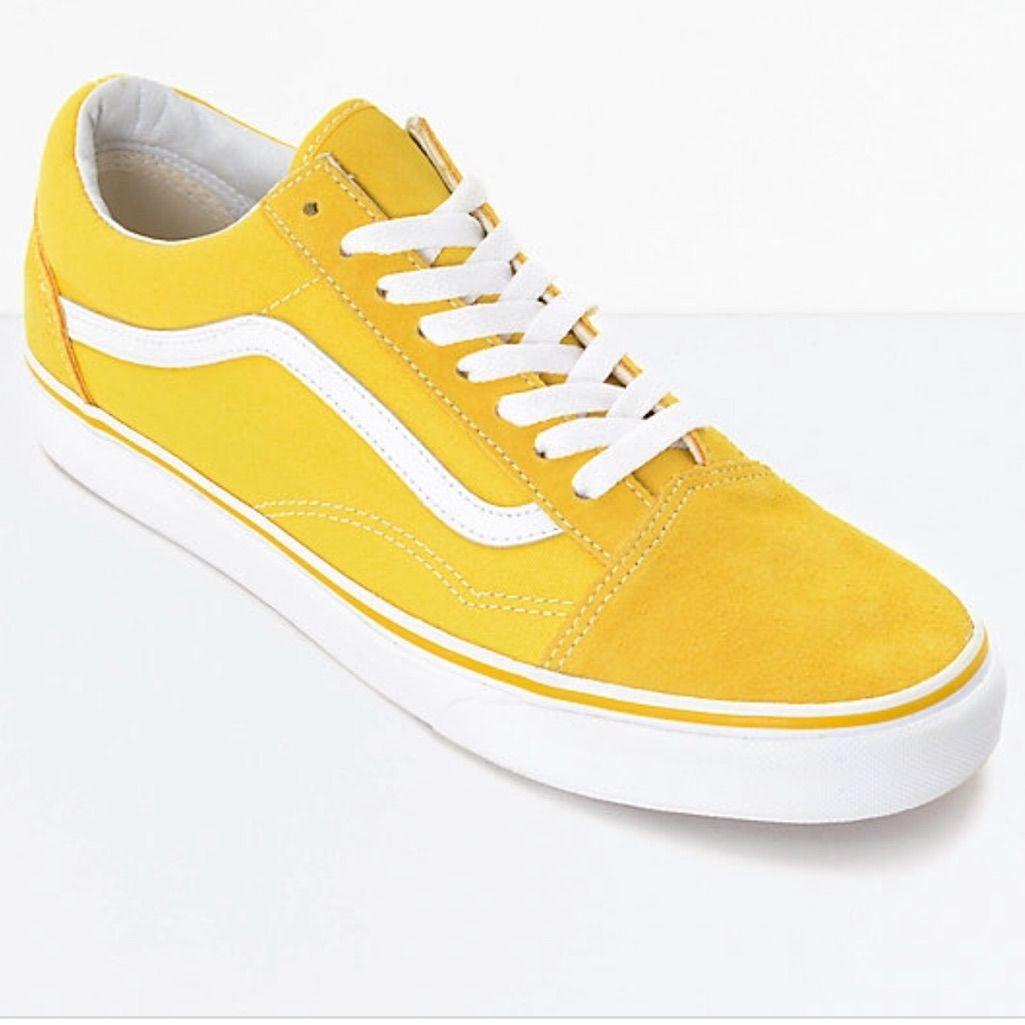 Yellow White Suede Canvas Old Skool Vans Zephyr | Color ...