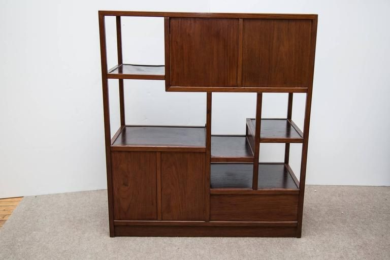 Pair of Japanese Tansu Cha Cabinets in Teak 4