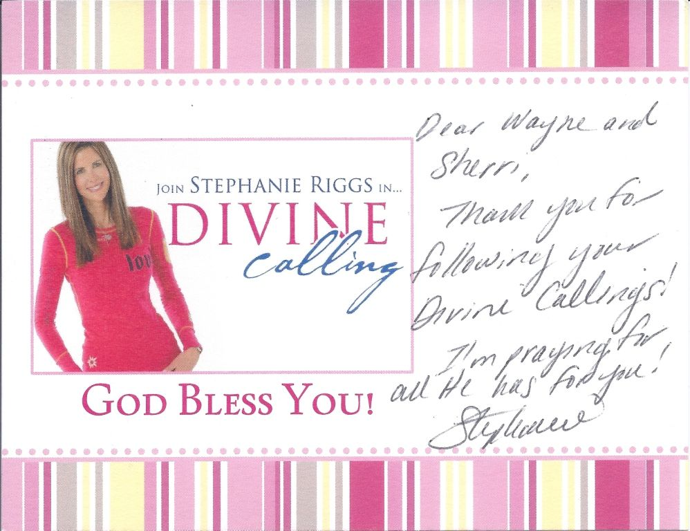 An Encouraging Note from Stephanie Riggs!